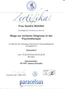 Zertifikat Diagnostik
